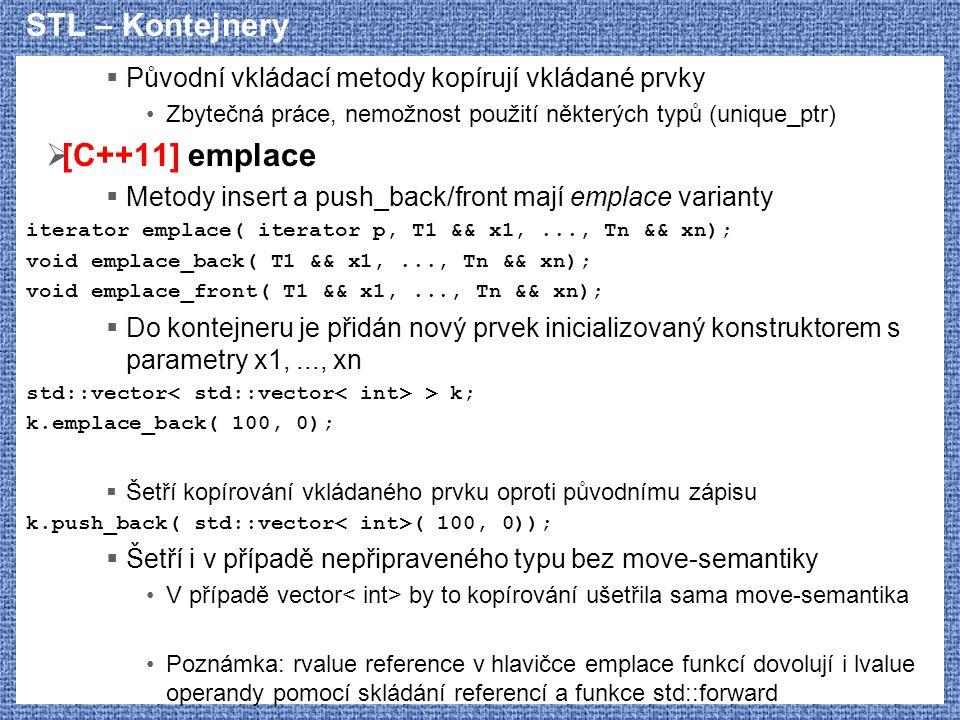 STL – Kontejnery [C++11] emplace
